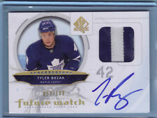 2009/10 Tyler Bozak SP AUTHENTIC FUTURE WATCH AUTO PATCH  Rookie LEAFS /100