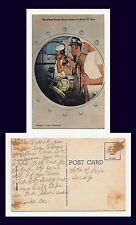 US NAVY THE WHEEL HOUSE NERVE CENTER OF A NAVY PC BOAT LINEN POSTCARD WWII