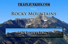 "TrainJunkies N Scale Rocky Mts (No Clouds) Backdrop 12x80"" C10 Mint-Brand New"
