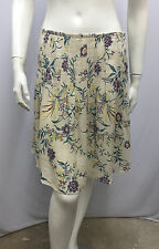 MARNI FLORAL SKIRT PLEATED PART LINEN SHEER SIZE 40 6