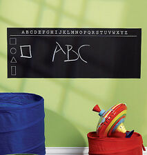 ABC Alphabet Chalkboard Wall Mural Sticker Play Remove Write Learn Chalk Board
