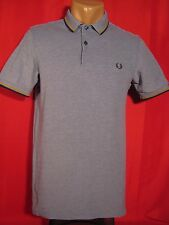 Fred Perry Mens Polo Shirt Short Sleeves Blue-Gray FredPerry S Small