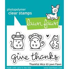 Lawn Fawn Thankful Mice Clear Stamps LF936