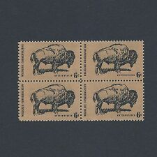 Wildlife Conservation: The Buffalo - Vintage Mint Set of 4 Stamps 46 Years Old!