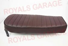 CAFE RACER STYLE SINGLE SEAT BROWN FOR ROYAL BIKES ENFIELD CLASSIC