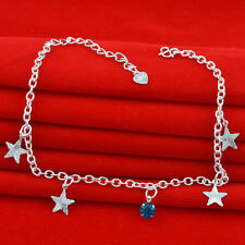 Jewelry Fashion  925 silver crystal chain Bracelet Anklet gift for women N-296