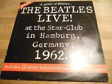 THE BEATLES LIVE! AT THE STAR-CLUB IN HAMBURG, GERMANY;1962 UK PRESSED 2XLP RARE