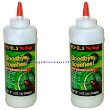 2X ECHOLS No Bug Boric Acid Roach Killer Palmetto bugs, Waterbugs, Ants, Powder
