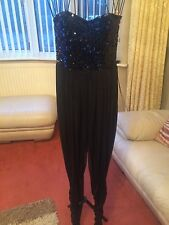 Ladies NEW Designer SEXY Black Jumpsuit Catsuit- RARE House Of Fraser Size 8-10
