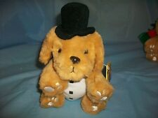 PUPPY DOG STUFFED ANIMAL PAW PALS TOP HAT PLUSH TOY CHRISTMAS DECORATION AGES3UP