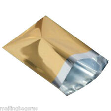 "10 Metallic Gold 14""x16"" Foil Mailing Postage Postal Bags"