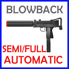 Airsoft Blowback Green Gas Mac10 Semi Full Automatic Pistol HG-203 UZI Gun Mac11