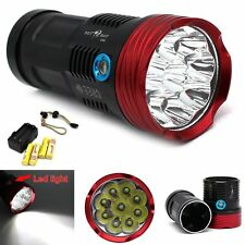Red Head 15000LM SKYRAY 9x CREE XML T6 LED Flashlight Torch Hunting Lamp Kits