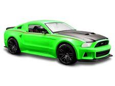2014 Ford Mustang Street Racer grün, Maisto Auto Modell 1:24, Neu, OVP