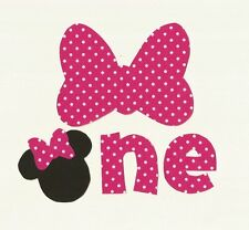 Minnie Mouse 1st Birthday Iron On Fabric Applique