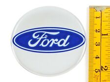 "Ford *4 x NEW* Emblems 55mm (2 3/16"") WHEEL CENTER CAP STICKERS 3D DECALS"
