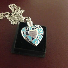 Memorial Cremation Jewellery/Pendant/Urn/Keepsake for Ashes-Always in my Heart