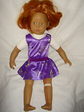 "Handmade Leotard & Skirt  ideal for American Girl  18"" Fashion doll  Lilac Mesh"