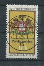 BUND ABART 948 f41 TAG DER MARKE 1977 PF linker Stab unten gebrochen gest. a6421