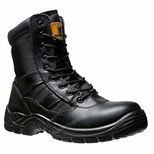 Mens Safety Steel Toe Cap Combat Boot Police Army Military CADET Boots size10/44