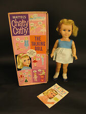 Vintage 1959 Chatty Cathy - The Talking Doll with Story Book in Original Box