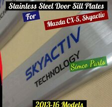 Mazda CX-5 Skyactiv Stainless Steel Door Sill Plates 4 Pieces All Models 2012-16
