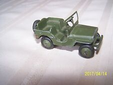 DINKY TOYS No 669 VINTAGE 1950'S US ARMY MILITARY JEEP VERY NICE CONDITION