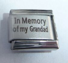 IN MEMORY OF MY GRANDAD Italian Charm - With Sympathy I Love fits 9mm Bracelets