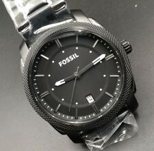 NEW OLD STOCK FOSSIL 42MM DATE STAINLESS STEEL QUARTZ MEN WATCH