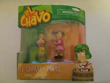 EL CHAVO & POPIS PLAY FIGURES CAKE TOPPER 2 INCH NEW