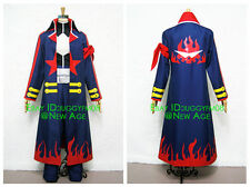 Gurren Lagann Simon Cosplay Costume (Captain) Outfit Coat Trousers Collar Belt