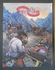 VINTAGE 1970S LEVI'S ADVERTISING POSTER WITH MOUNTAINS AND MINERS W/ JEANS **