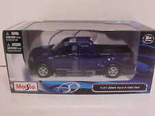 2004 Ford F150 FX4 Pickup Truck Die-cast 1:31 Blue Maisto 7.75inch Similar 1/24