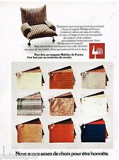Publicité Advertising 1973 Les Fauteuils Mobilier de France