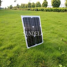 NEW! 20 W MONOCRYSTALLINE SOLAR PANEL 20 WATTS BATTERY CHARGER 12V PV DIODE