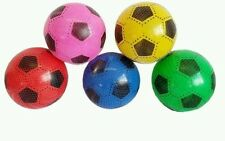 """10pc PLASTIC FOOTBALLS 8.5"""" FLAT PACKED UN-INFLATED IN 5 DIFFERENT COLOR JOBLOT"""