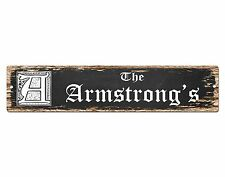 SP0805 The ARMSTRONG'S Family name Sign Bar Store Shop Cafe Home Chic Decor