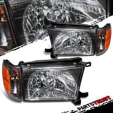 For 1996 1997 1998 Toyota 4Runner Black Factory Style Headlights Pair