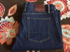 Gustin Straight Fit Selvedge Raw Denim Jeans - Size 38 USA  NWOT