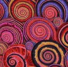 SPIRAL SHELLS by Philip Jacobs~ Kaffe Fassett~ Red  ~Fabric~1/2 yard