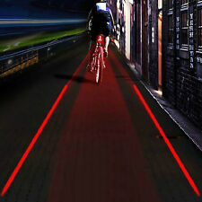 LOGO Projection Version Bicycle Rear Tail Lamp 5 LED 2 Laser Cycling Bike Light