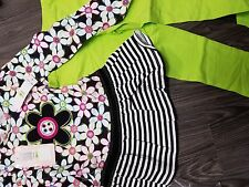 girls new outfit size 4 leggings black white kids headquarters cute flower shirt