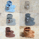 Cute Handmade Knit Cotton Crochet Boy Baby Boots Shoes Newborn Photo Props New