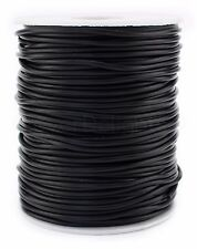 Black Rubber Cord - 25 Yards - 2mm - Beading Jewelry Crafts Tubing Necklace