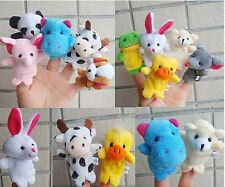 10Pcs Family Finger Puppets Cloth Doll Baby Educational Hand Cartoon Animal Toy