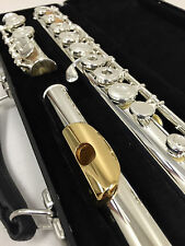 NEW Gemeinhardt model-3 Silver plated Flute, GOLD LIP Open-Hole C-foot, inline G