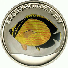 Congo 2005 Yellow Fish 10 Francs Silver Coin,Proof