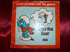 "SMURFS & Father Abraham SMURFING BEER 7"" PS Single 24th Apr 1979 BBC Radio Promo"