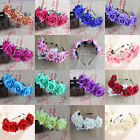 Girl Floral Crown Rose Flower Headband Hairband Wedding Hair Garland Headpiece