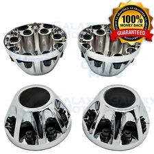 "08-10 Chevy Silverado DUALLY Model Chrome 17"" 2x REAR Wheel Center Hub Cap Cover"